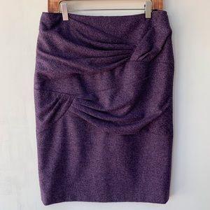 Escada Ruched Wool Pencil Skirt with Silk Lining
